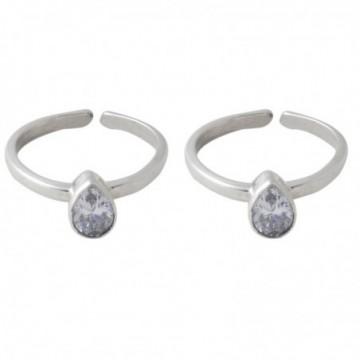 Exclusive Cubic Zirconia Gemstone Toe Ring