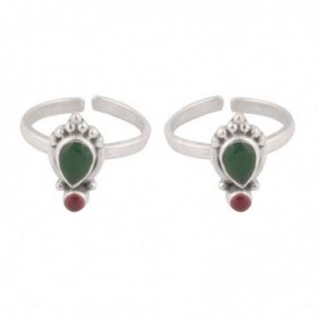 Artisan Crafted Ruby Gemstone Toe Ring