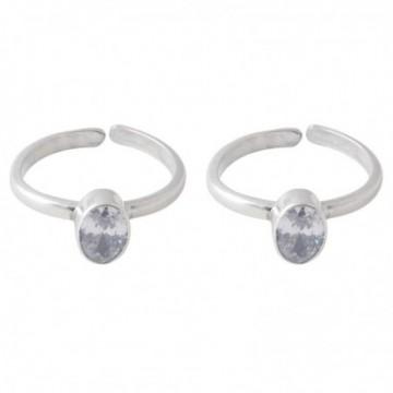 Artisan Crafted Cubic Zirconia Gemstone Toe Ring