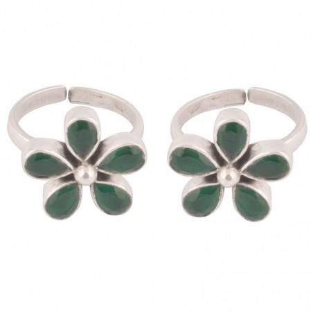 Elegant style emerald stone  Gemstone Toe Ring