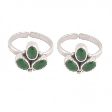 Handmade designer Emerald Gemstone Toe Ring