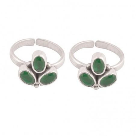 Handmade designer Emerald Gemstone Toe Ring
