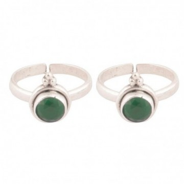 Artisan Crafted Emerald Gemstone Toe Ring