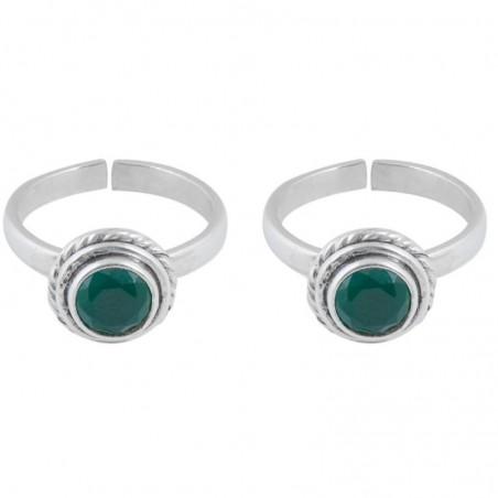 Elegant style Emerald Gemstone Toe Ring