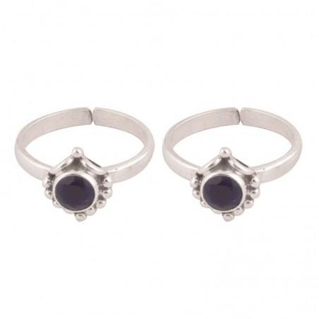 Elegant style Blue Sapphire  Gemstone Toe Ring