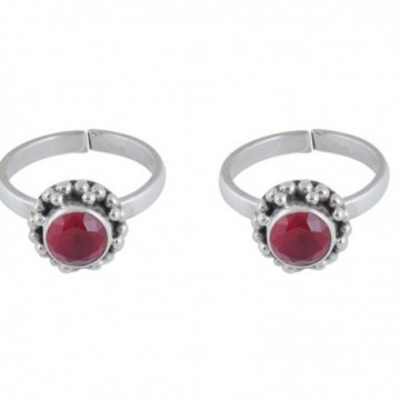 Artisan Crafted Ruby Gemstone Toe Ring