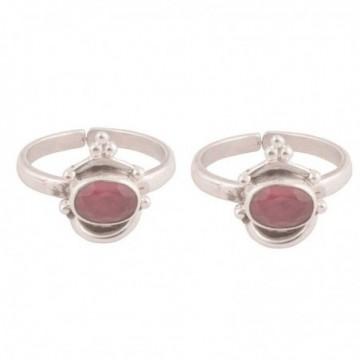 Handmade designer Ruby  Gemstone Toe Ring