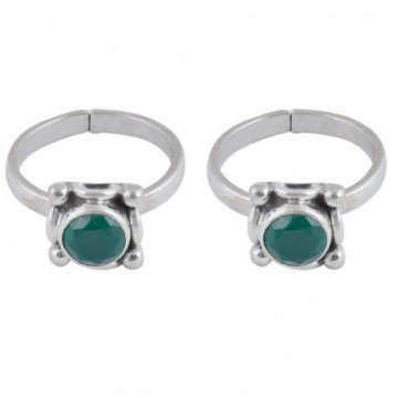 Elegant style emerald Gemstone Toe Ring