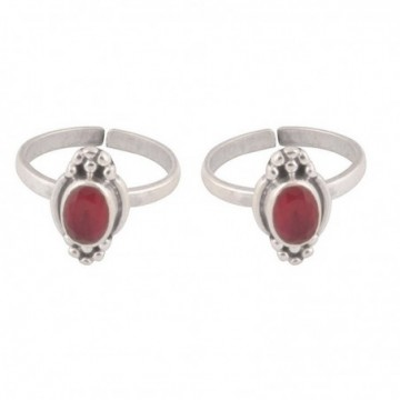 Handmade designer Ruby Gemstone Toe Ring