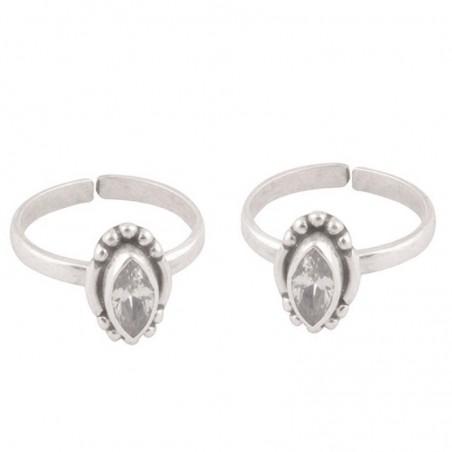 Elegant style Cubic Zirconia Gemstone Toe Ring