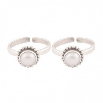 Exclusive Pearl Gemstone Toe Ring