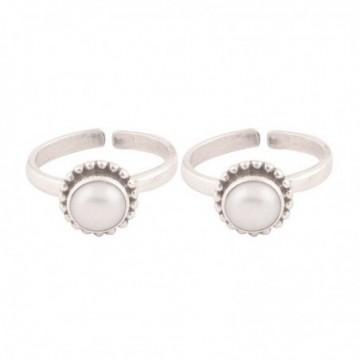 Exclusive Pearl Gemstone Toe Ring