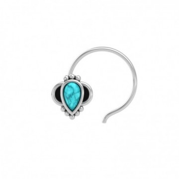 Artisan Crafted Turquoise Gemstone Nose Pin