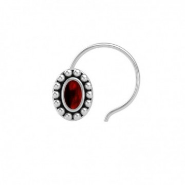 Artisan Crafted Garnet Gemstone Nose Pin