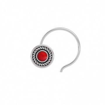Artisan Crafted Coral Gemstone Nose Pin