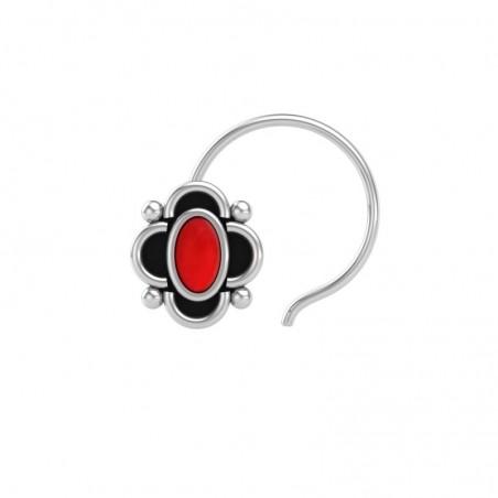 Artisan Crafted Coral Gemstone Nose Pin