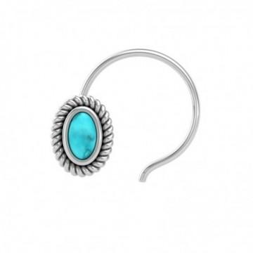Artisan Crafted Turquoise Gemstone Nose Pin
