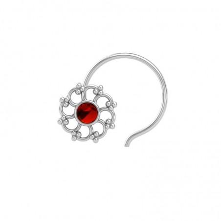 Artisan Crafted Garnet Gemstone Nose Pin