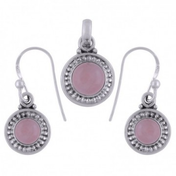 Elegant style Rose Quartz Gemstone Set