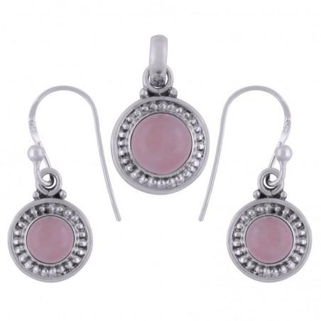 Elegant style Rose Quartz Gemstone Set