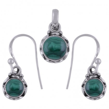 Elegant style Malachite Gemstone Set