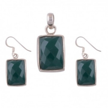 Elegant style Green Onyx Gemstone Set