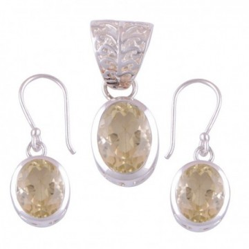 Elegant style Citrine Gemstone Set