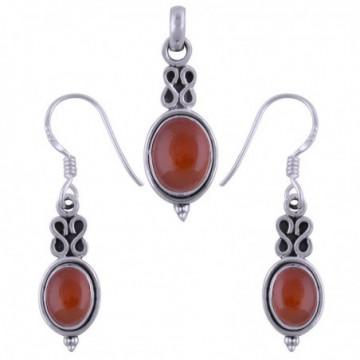 Elegant style Carnelian Gemstone Set