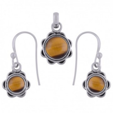 Elegant style Tiger Eye Gemstone Set