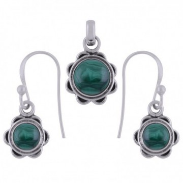 Elegant style Malachite Gemstone Set