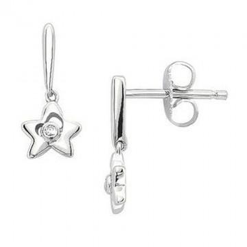 Beautiful Star Clear Quartz Cut Stone Studs Earrings