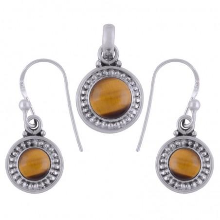 Elegant style Tiger Eye Gemstone Set
