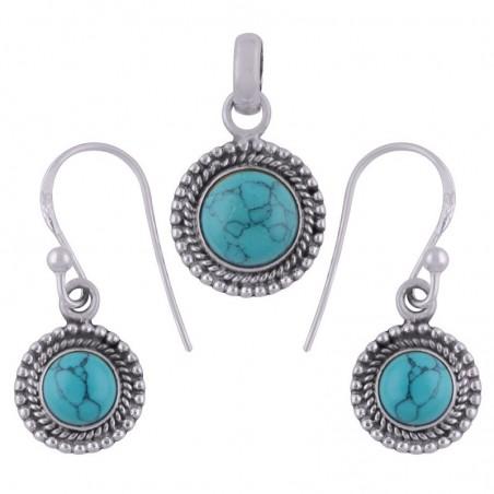 Elegant style Turquoise Gemstone Set