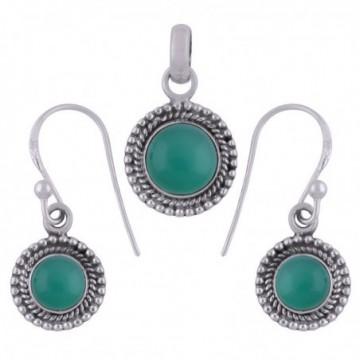 Elegant style Green Onyx Gemstone Set
