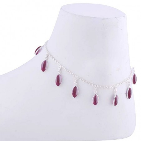 Elegant style Garnet Gemstone Anklet