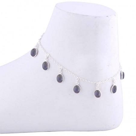 Artisan Crafted Labradorite Gemstone Anklet