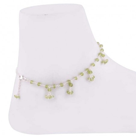 Exclusive Peridot Beads Anklet