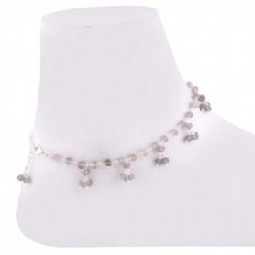 Elegant style Labradorite Beads Anklet