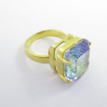 Elegant style Mystic Quartz Gemstone Fashion Ring