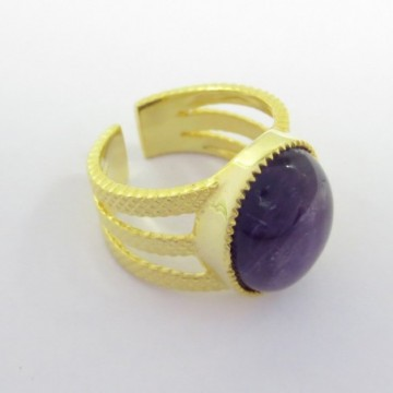Elegant style Amethsyt Gemstone Fashion Ring