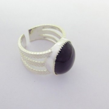 Elegant style Black onyx Gemstone Fashion Ring