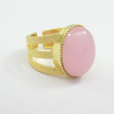 Elegant style Rose Quartz Gemstone Fashion Ring