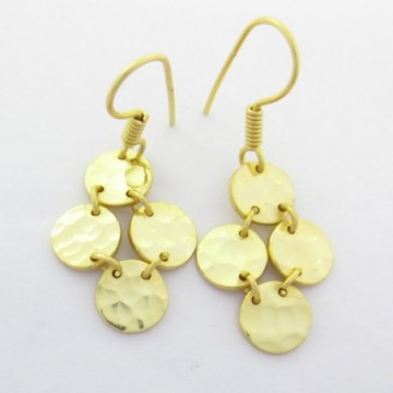 Hammered Dangle Drop Earring