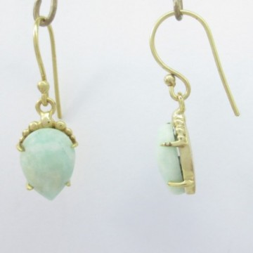 Exclusive Aamzonite  Gemstone Dangle Drop Earring