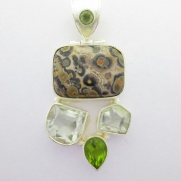 Artisan Crafted Jasper, Green Amethyst, Peridot Gemstone...