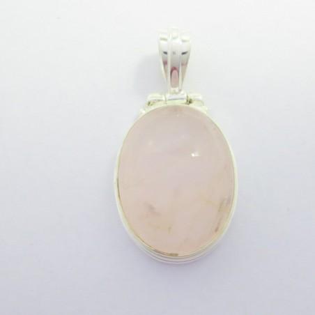 Artisan Crafted Rose Quartz Gemstone Pendant