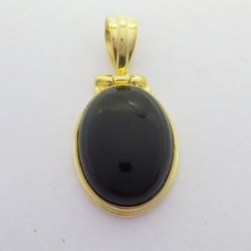 Artisan Crafted Black Onyx Gemstone Pendant