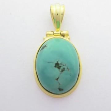 Artisan Crafted Turquoise Gemstone Pendant