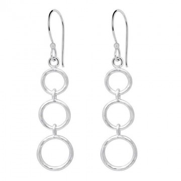 Exclusive Three Round Dangle Plain Earrings