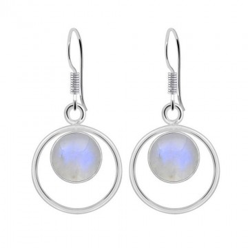 Artisan Crafted Rainbow Moonstone Gemstone Dangle Drop...